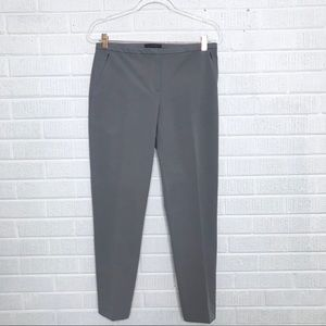 Elie Tahari Gray Structured Knit Trouser Pants 6